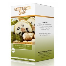 Caribbean Gold Moringa, Soursop & Ginger Tea 40g